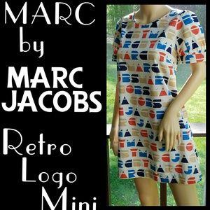 ▪️MARC JACOBS▪Retro Logo Cotton Mini Dress